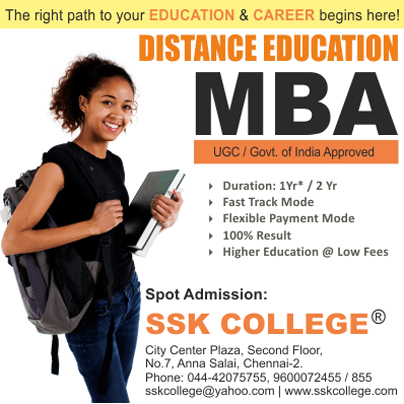 Distance Education for MBA in India